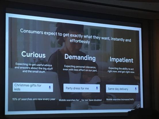 Consumers curious demanding impatient